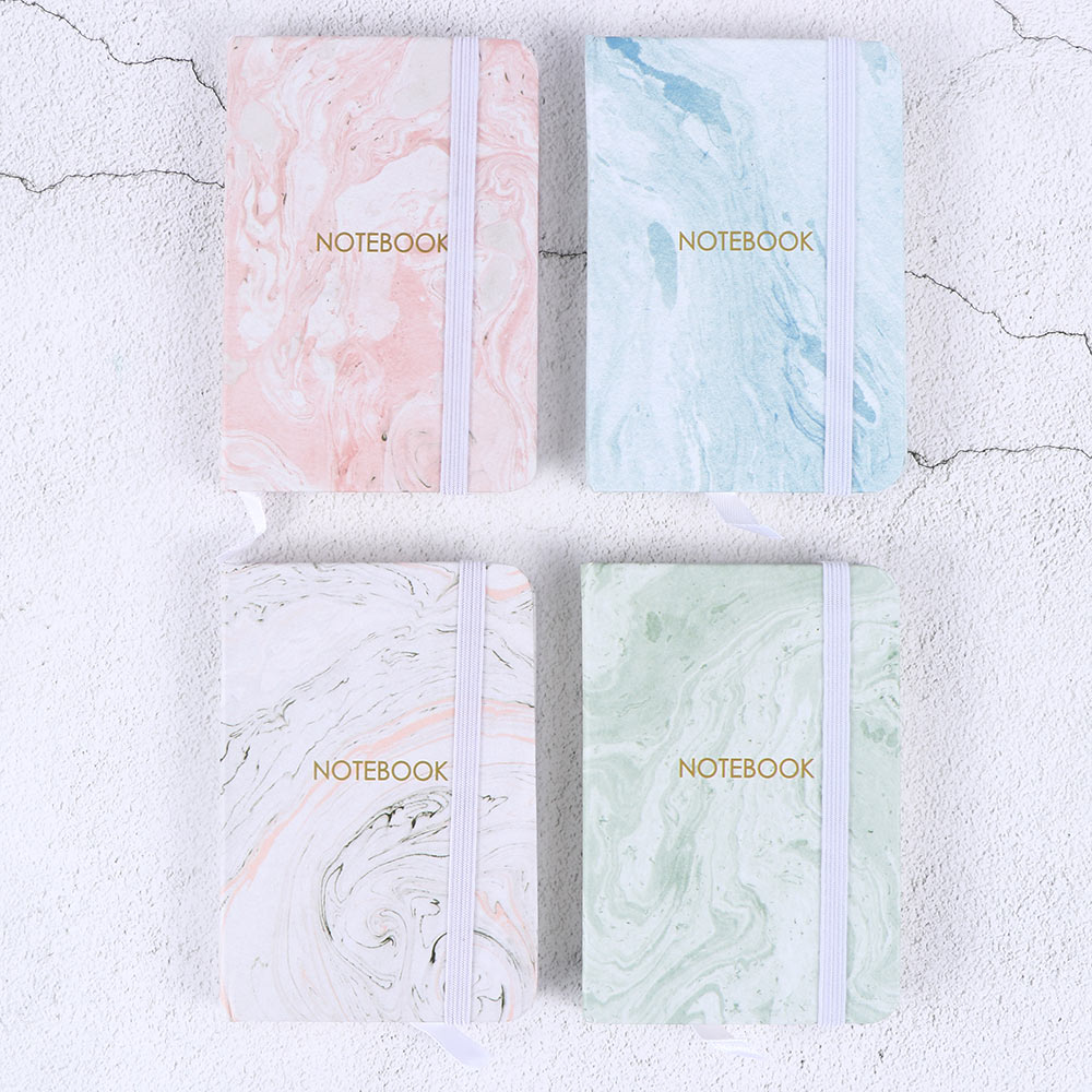 Fashion Japanese Stationery Marble Designs Notebook Hard Cover A7 Planner Notepad Diary School Office Supplies Escolar