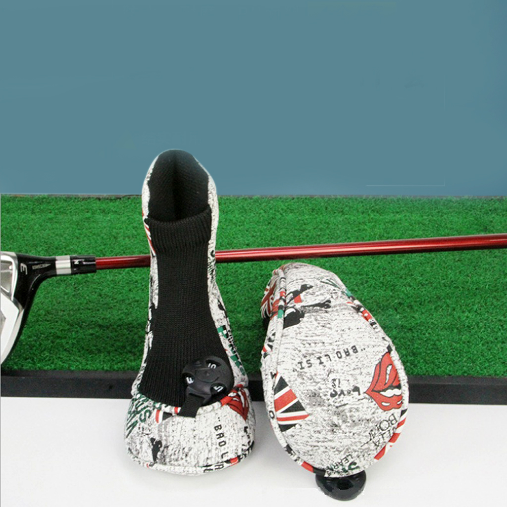 4pcs Golf Club Headcover 460cc Driver Wood Head Cover Protector Sleeve Set Golfer Chirstmas Gift