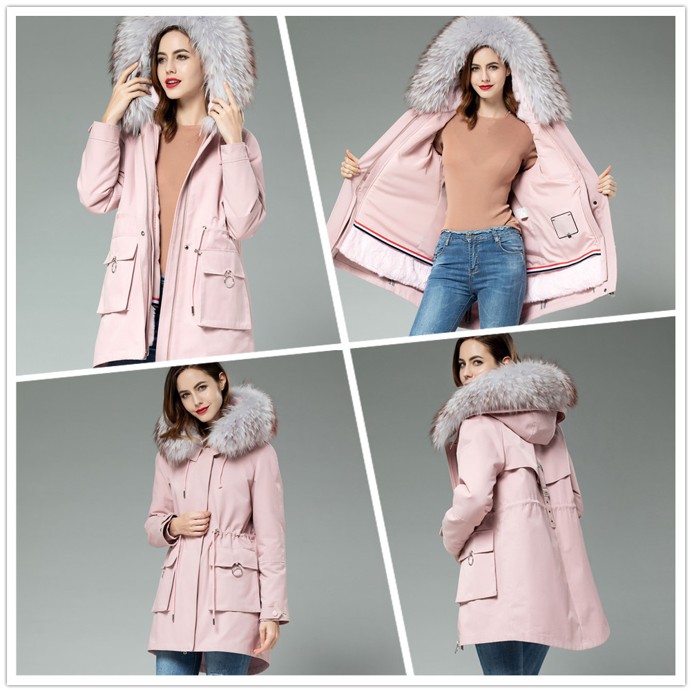 real fur jacket coat womens fur lining girls natural fur in Real Fur from Women 39 s Clothing