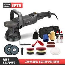 Spta 5 polegada 750w dupla ação polisher órbita 15mm polidor automático do carro polisher casa diy polidor com enceramento almofadas de polimento conjunto