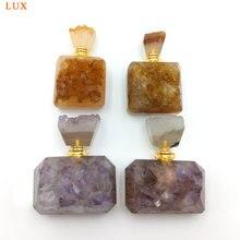 Подвески с натуральными цитринами флакон духов драгоценные камни