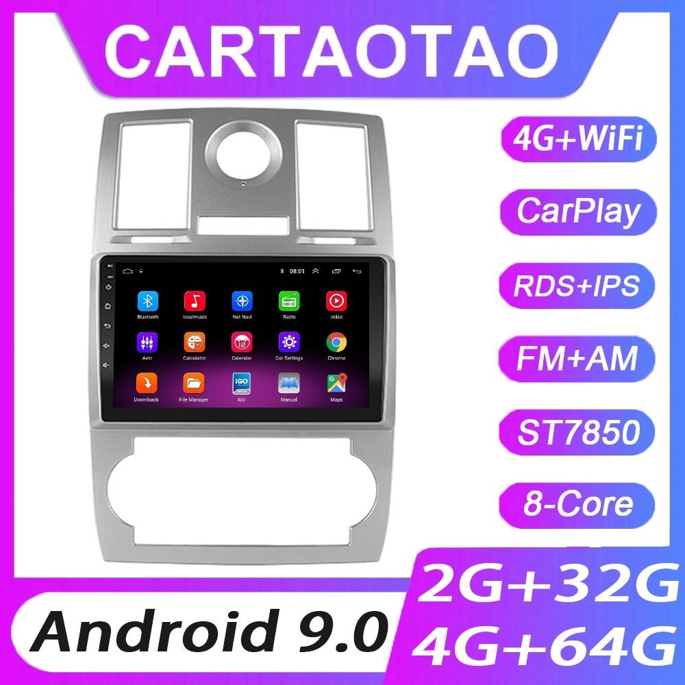 Reproductor multimedia con pantalla y navegación GPS para coche, radio de 2din con WIFI, RDS, IPS, 4G + 64G Android 9.0 para Chrysler Aspen 300C 2004, 2005, 2006-2008
