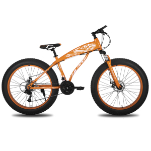 HILAND 26'' Bike Suspension Snow Bike Double Disc Brake Bicycle with Shimano Derailleur and CST Tire