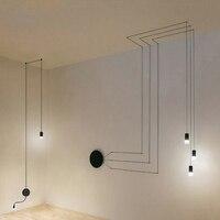 Geométrico pendurado lâmpada pingente de luz para o escritório iluminação minimalista decorações casa sala estar corredor quarto reunião Luzes de pendentes     -
