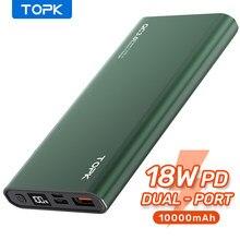 TOPK güç bankası 10000mAh taşınabilir şarj harici pil PowerBank PD iki yönlü hızlı şarj PoverBank iPhone xiaomi mi
