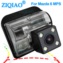цена на ZIQIAO for Mazda 6 M6 MPS CX5 CX-9 Mazda 3 M3 Besturn B70 Reverse Camera Dynamic Trajectory Tracks Car Rear view Camera HS090