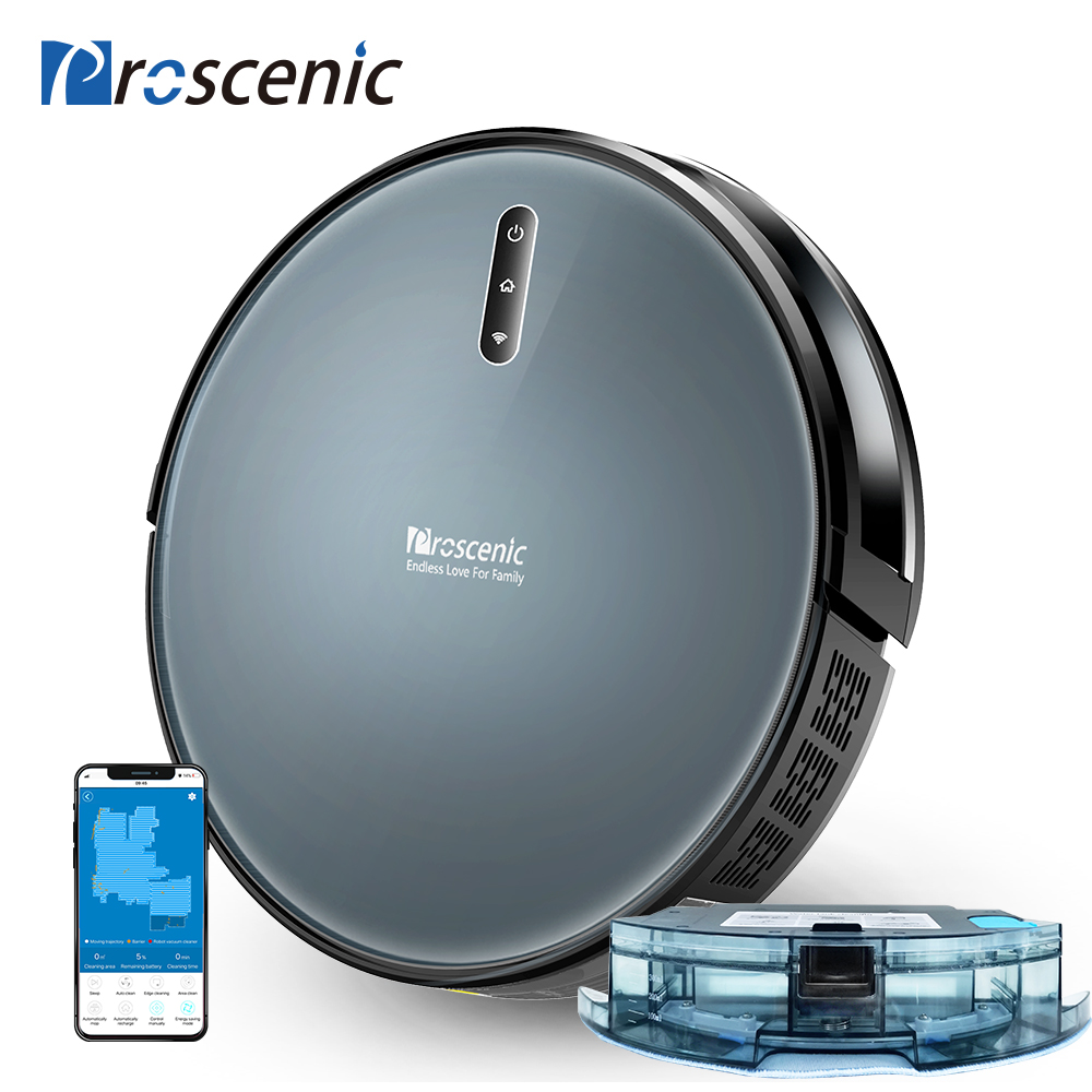 Proscenic 830P 2000PA Robot Vacuum Cleaner With Wet Cleaning Planned Washing Vacuum Cleaner For Home