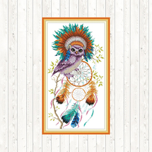 Owl Counted Cross Stitch Patterns DMC Printed on Canvas 14CT 11CT Fabric for Embroidery Kit DIY Crafts Needlework Home Decor