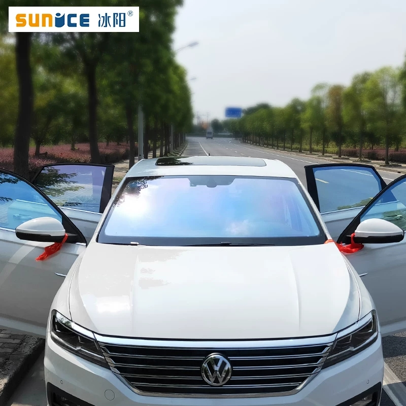 Window Tint SUNICE Chameleon Window Glass Tinting Glass Film VLT 65% 80x300cm <font><b>Car</b></font> Front Rear Windows Window Sunshade Sticker image