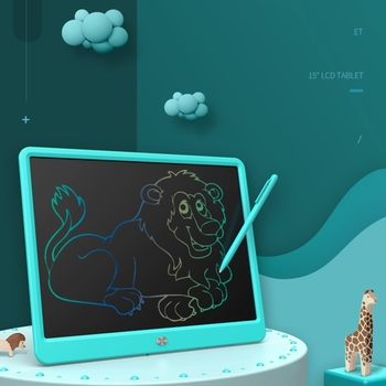 LCD Writing Tablet,15 Inch Colorful Screen Digital Writer Electronic Graphics Tablet Doodle Drawing Pad for Kids Toys Bi 1
