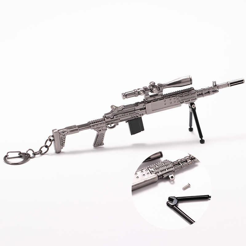PUBG anahtarlık oyun PLAYERUNKNOWN'S BATTLEGROUNDS Cosplay kostüm anahtarlıklar akm 98k silah modeli anahtarlık Pan kask Fan