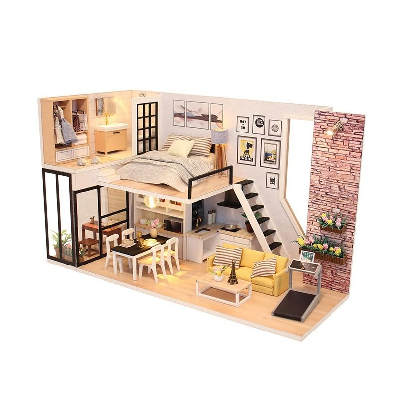 Diy Doll House Furnitures Land Of Peach Blossoms Miniature Dollhouse Toys For Children Family House Casinha De Boneca Doll House