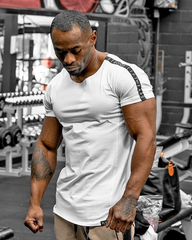 2019 Cool Men Soft 95% cotton Gyms <font><b>T</b></font> <font><b>Shirt</b></font> Basic <font><b>Blank</b></font> <font><b>White</b></font> <font><b>T</b></font>-<font><b>shirt</b></font> For Men Fashion tshirts Summer Top Tee Tops leisure homme image
