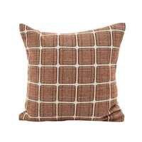Home dec 45*45 см кофейно-коричневые Чехлы для подушек без внутренней хлопково-льняные, для дивана орнамент плед узор Подушка наволочки X117