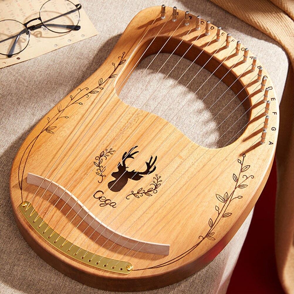 Cordas de madeira mogno, instrumento musical portátil