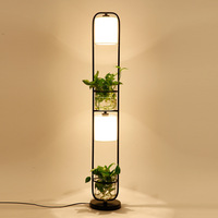 Botany Floor Lamp Northern Europe A Living Room Bedroom Office Personality Cloth Cover Glass Flowers And Plants Floor Lamp