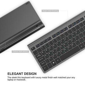 Image 5 - Tastiera e mouse senza fili, 2.4 gigahertz stabile connessione batteria ricaricabile, Full size il layout Russo, nero grigio Argento bianco