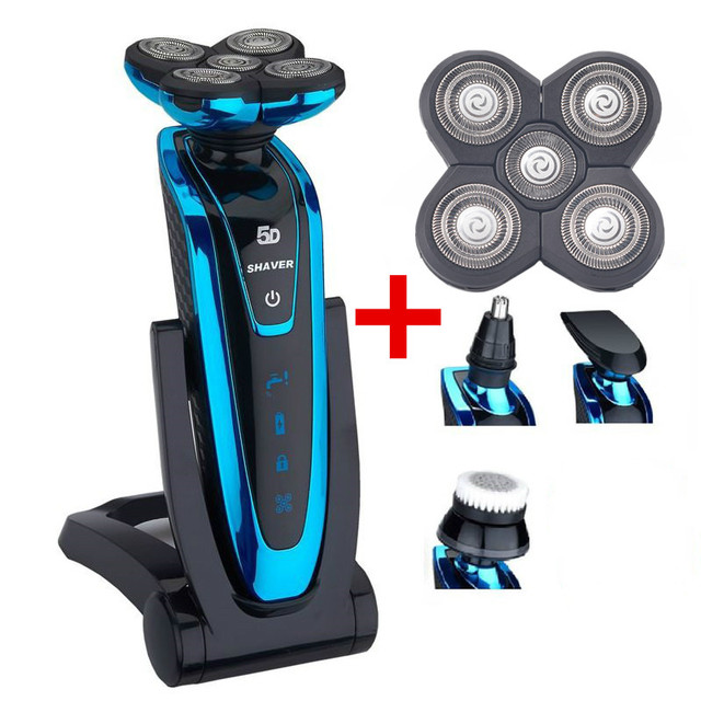 TFLYSHAVE 5 in 1 Men's Electric Shaver Whole Body Washing 5D Floating Head Shaving Machine for Men Waterproof Electric Razor 43D