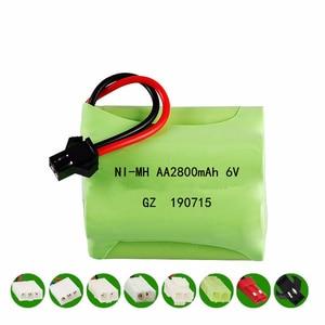 Image 2 - (SM Plug) Ni MH 6v 2800mah Battery + USB Charger For Rc toys Cars Tanks Trucks Robots Boats Guns AA 6v Rechargeable Battery Pack