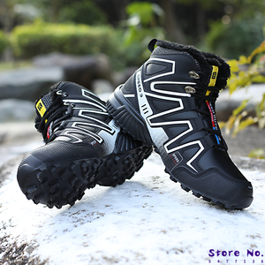 2020 Hot Selling Winter Boots Men Warm Snow Boots Fur Winter Boots Men Leather Shoes Men Warm Comfortable Boots Winter Non-slip