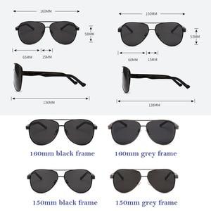 Image 3 - Vazrobe Mens Polarized Sunglasses 160mm 150mm Oversized Sun Glasses for Man Black Anti Reflection Coating Tint Driving Fishing