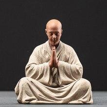 Kung fu tray accessories decorative buddhas figures porcelain Ceramic monk figurines tea pet Ornaments home decoration