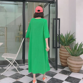 XITAO Pleated Plus Size Dress Fashion Pullover Goddess Fan 2020 Summer Goddess Fan Minority Casual Style Loose Dress GCC3517 2