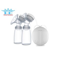 Real Bubee Double Electric Breast Pump Feeding  Auto Massage Strong Suction BPA Free