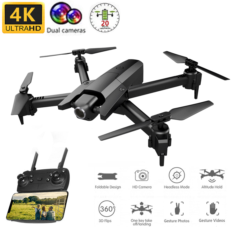 <font><b>GW106</b></font> 4K Profissional Drone With Camera HD Dual Camera Quadcopter Wifi FPV RC Helicopter Selfie Drone VS M69 M70 SG106 E58 E520 image
