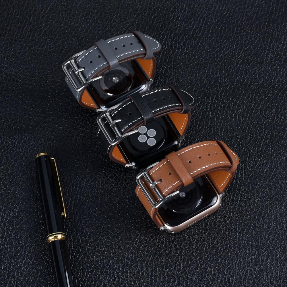 Cinturino in pelle di alta qualità per iWatch 40mm 44mm cinturino sportivo Tour Band per Apple watch 42mm 38mm serie 2 3 4 5 6 SE 2