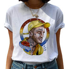 Модная женская футболка lil открытым harajuku в стиле «хип хоп»