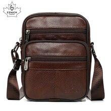 الرجال حقيبة كتف جلد طبيعي أكياس Crossbody أكياس للرجال حقيبة ساعي 2019 الأزياء رفرف الفاخرة حقيبة يد ZZNICK