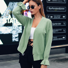 Jumper Real 2019 Explosion Models Autumn And Winter New Womens Sweater Cardigan Trumpet Sleeve Knit Coat Women Sweaters