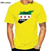 2019 nova manga curta casual livre síria camiseta ajuda sírio pessoas verão casual homem t camisa boa qualidade