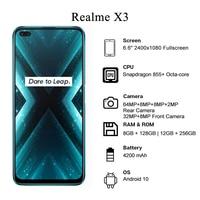 Realme X3 Smartphone 6.6 '' Snapdragon 855+ Octa-core 64MP Rear Camera 60X Super Zoom 4200mAh Battery Cellphone 2
