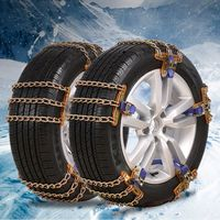 Winter Adjustable Car Tyre Roadway Safety Tire Snow Anti skid Safety Double Snap Skid Wheel Chains