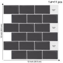 EasyKing (30.5*30.5CM)Bar dekoracyjne naklejki ścienne łazienka wodoodporna i bryzgoodporna Backsplash łatwe do cięcia płytki ścienne
