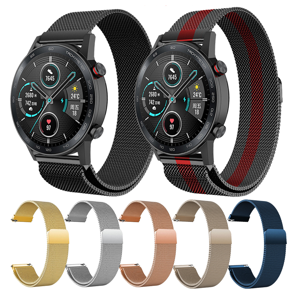 Metal Milanese Band For HONOR Magic Watch 2 46mm 42mm Wrist Strap MagicWatch 2 Watchband For Huawei GT 2 42 46 Samsung Bracelet