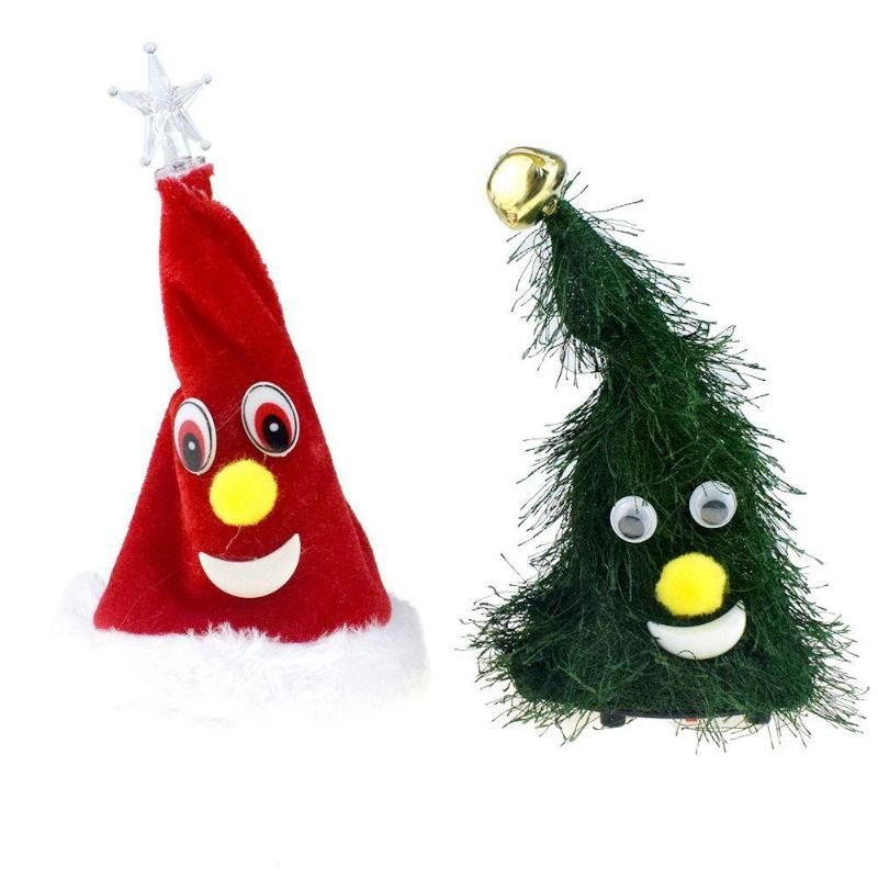 Novelty Creative Christmas Tree Shaking Doll Electric Toy Ornament Scope Of Application Festival Celebration Birthday Party