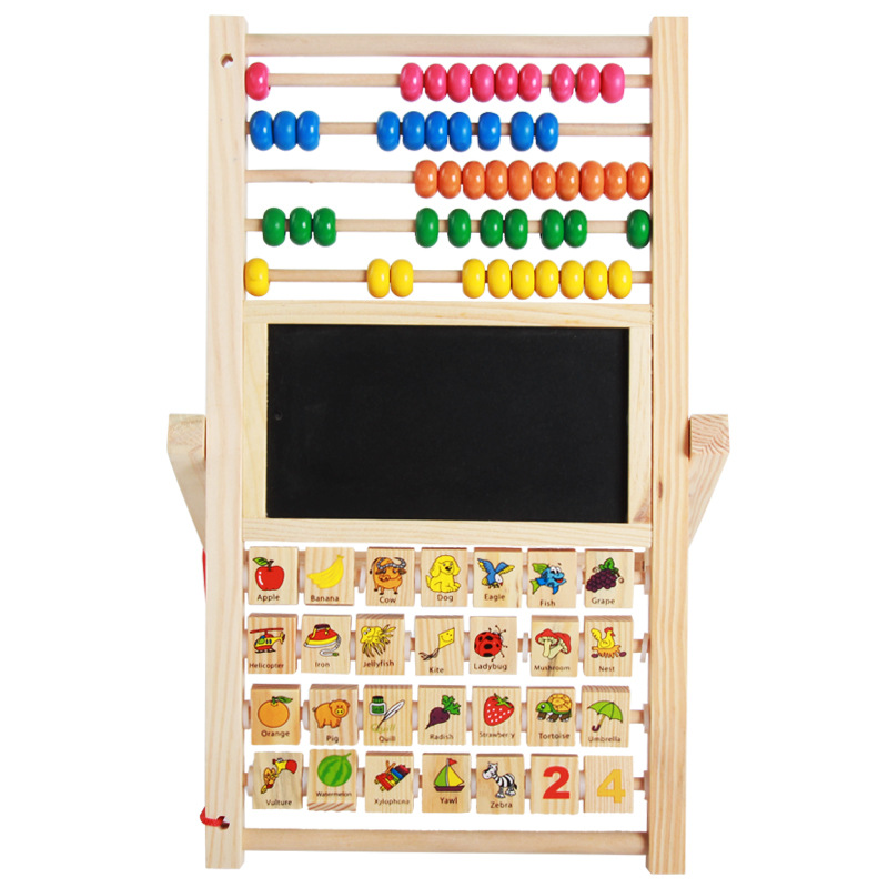 Wooden CHILDREN'S Drawing Board Multi Purpose Magnetic Calculation Frame Early Learning Sketchpad Wooden Toys Tmall Signature