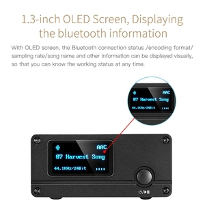 Image 5 - XDUOO XQ 50 Pro DAC HD Bluetooth Audio Receiver Decoder Converter Multifunction OLED Display Type C Adapter Support PC USB DAC