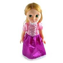 Tamanho grande novo 16 polegadas moda princesa rapunzel boneca bonito brinquedo presentes para meninas