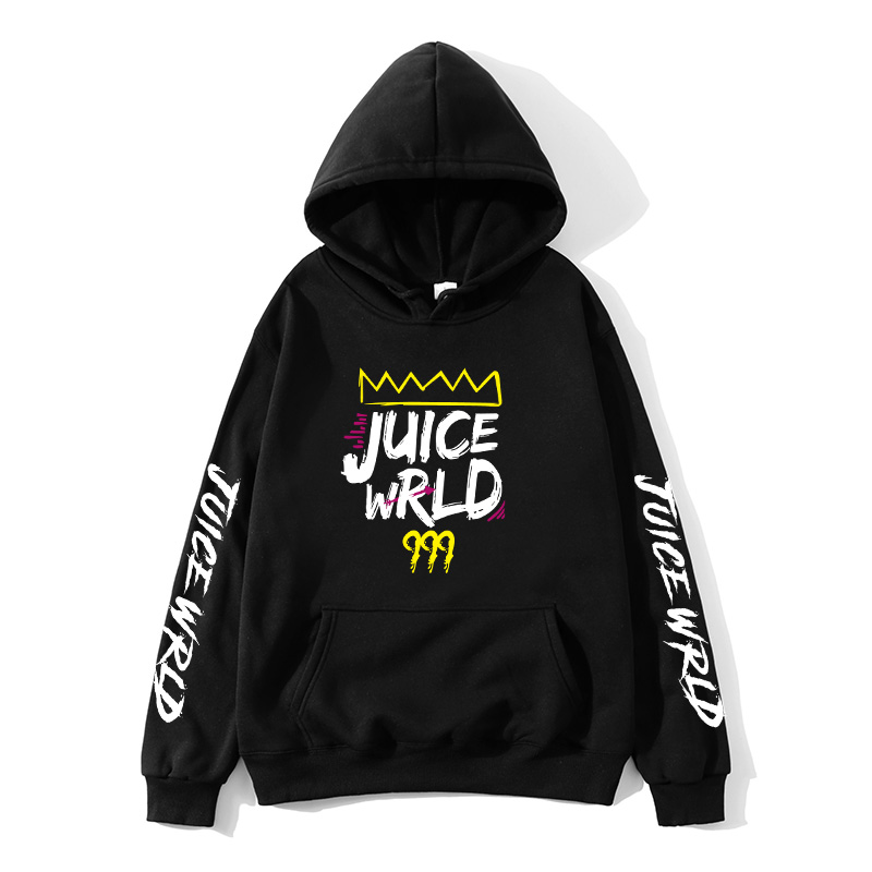 2020 black and white red color J UICEWrld hoodie sweatshirt juice wrld juice wrld juicewrld trap rap rainbow glitch juice world