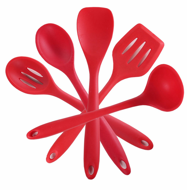 High Temperature Resistance Non-Stick Silicone Spoon Paddle Baking Cooking Tools For Nonstick Cookware Kitchen Utensil Supllies