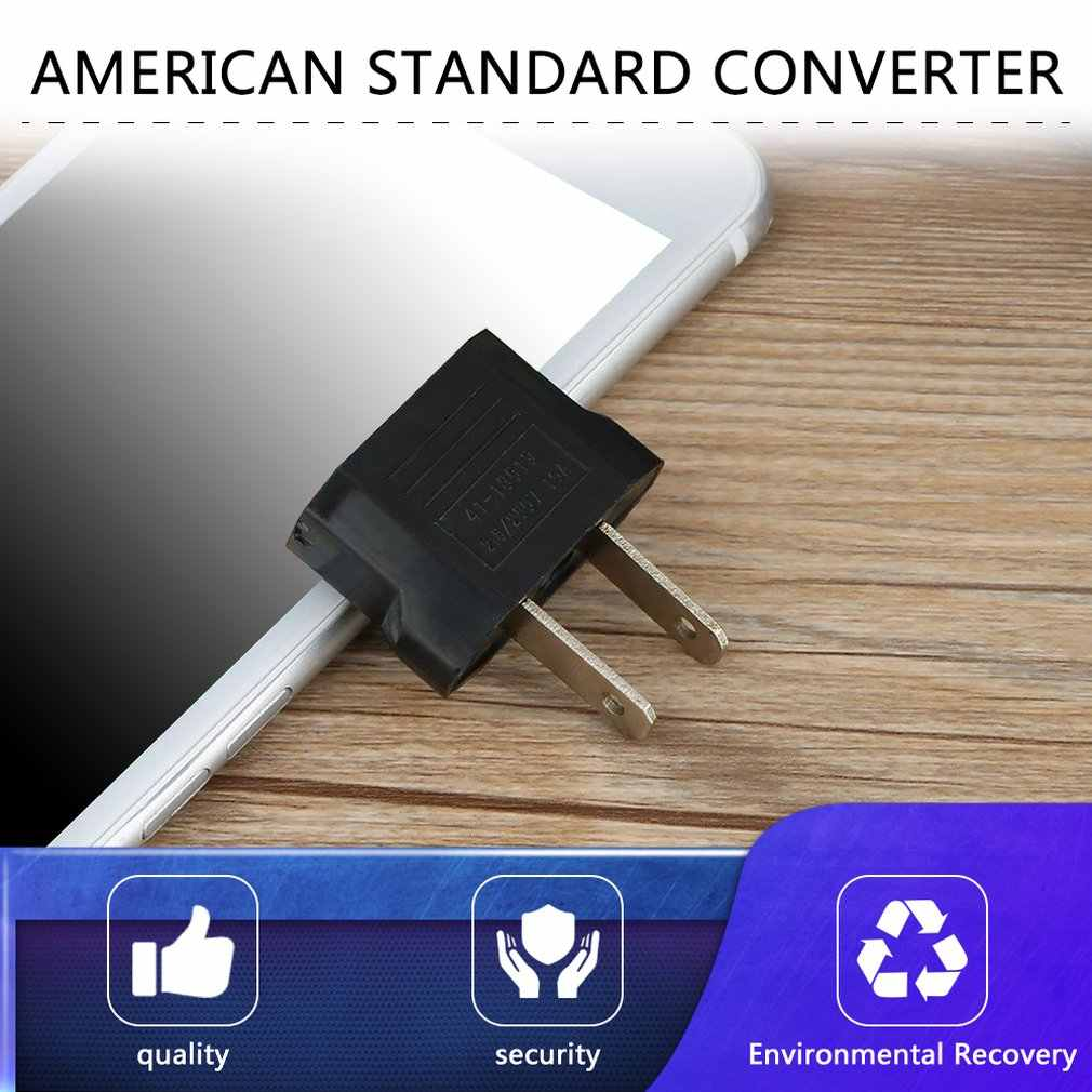 Uniwersalna wtyczka podróży Adapter ue EURO do USA USA Adapter konwerter zasilania AC Adapter wtyczki złącze