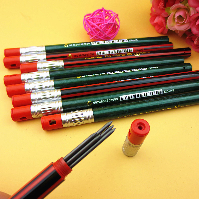 5Pcs/set 2mm 2B Automatic Pencils Refill Cute Mechanical Pencil Refill For Kids Gifts School Office Drawing Supplies Stationery