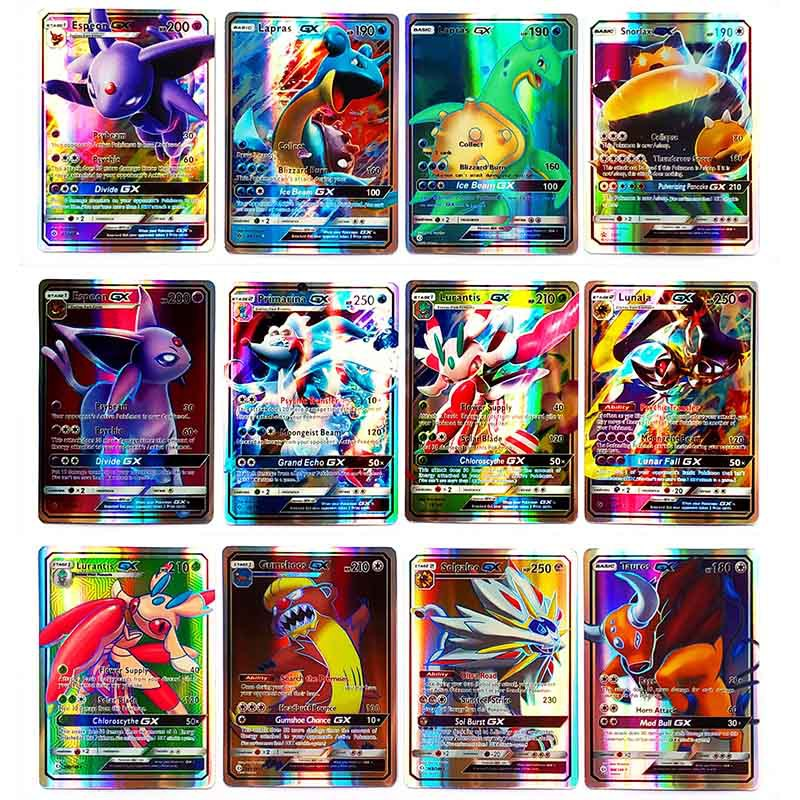 Takara Tomy Pokemon Card 100PCS GX EX MEGA  Flash Sword And Shield Collectible Christmas Gifts Children Toy