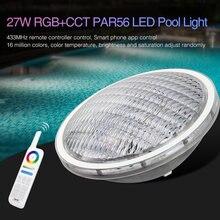 Miboxer 27W Rgb + Cct PAR56 Led Zwembad Licht AC12V/DC12-24V IP68 Onderwater Lamp; FUT086 8-Zone 433Mhz Afstandsbediening
