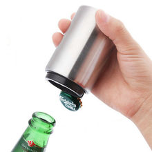Creative Portable Bottle Opener Stainless Steel Compact Manual Tin Can Corkscrew Jar Beer Opener Kitchen Bar Accessoires manual food tin can seamer
