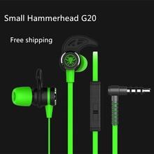 Plextone małe Hammerhead G20 słuchawki z mikrofonem w ucho słuchawki dla graczy izolacja akustyczna Stereo porównanie Razer Hammerhead V2 Pro